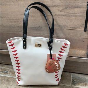 Betsey Johnson baseball tote